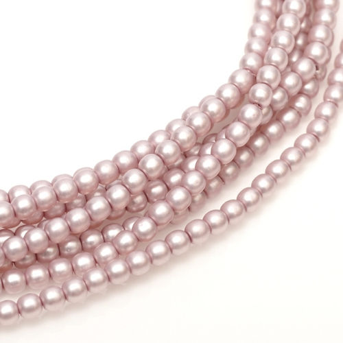 Pearl 6mm - Antique Pink Satin x25