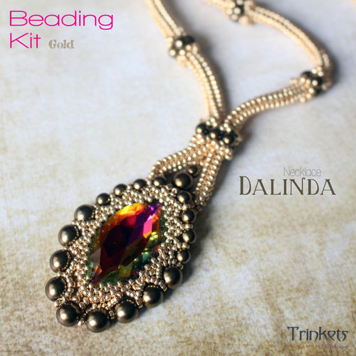 Beading Kit - Necklace 'Dalinda' - Gold