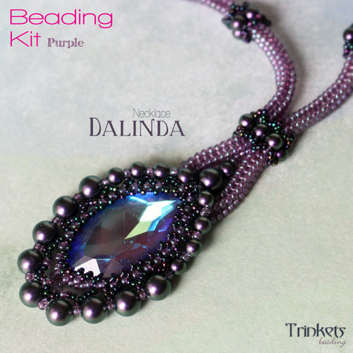 Beading Kit - Necklace 'Dalinda' - Purple