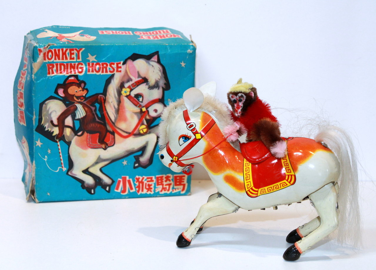 "Vintage Chinese ""Monkey Riding Horse"" in Original Box (628 MS 764)."