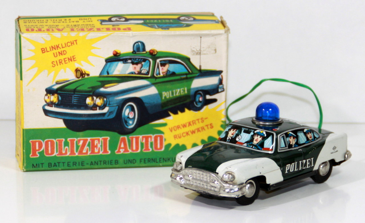 "ASC (Japan) # 1960's Blikken ""POLIZEI"" auto in doos !!"