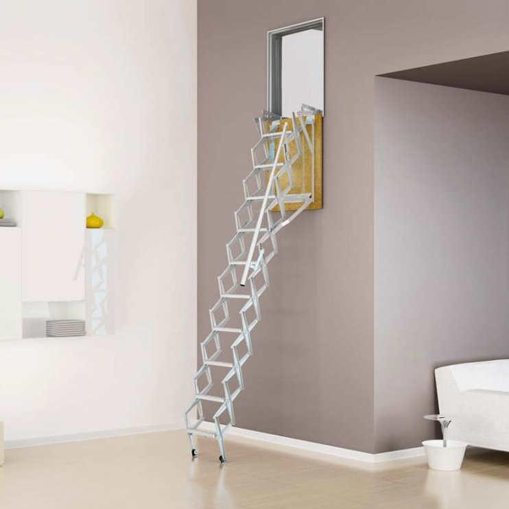 Folding Staircase ADJ Wall Mounted