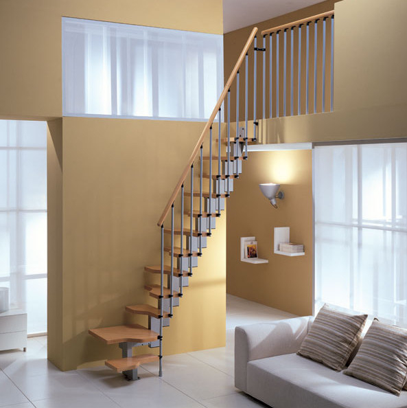 "Space Saver Staircase Type ""Mini"" Natural Beech"
