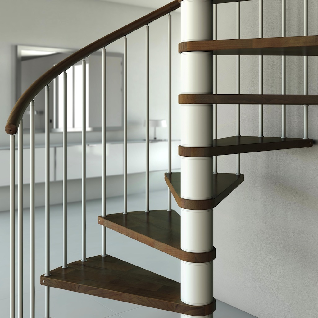 "Wooden Spiral Staircase Type ""Capri Plus"" 1200mm"