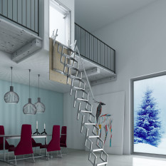 "Folding Staircase Type ""Wall H300"""