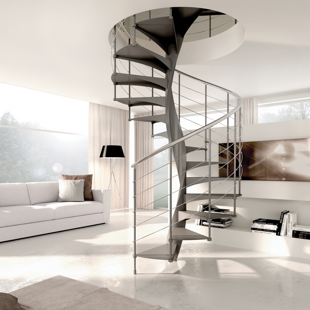 "Spiral Staircase Type ""Enna"" (Metal Treads)"