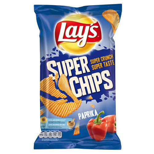 CHIPS.Paprika SUPERCHIPS 200 gram Lay's