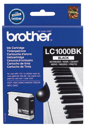 NONF.Cartridge LC1000 BK Zwart BROTHER