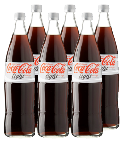 FRIS.Coca Cola Light Glas Krat 6x1 LTR.
