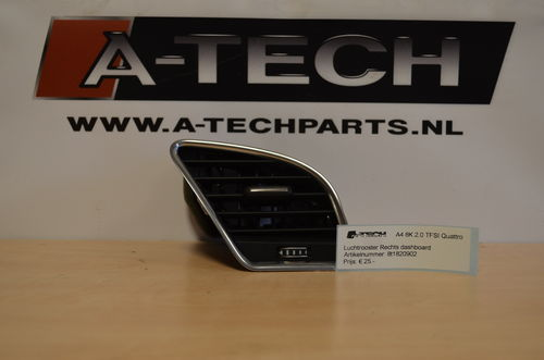 Luchtrooster dashboard rechts A4 8K A5 8T 8t1820902