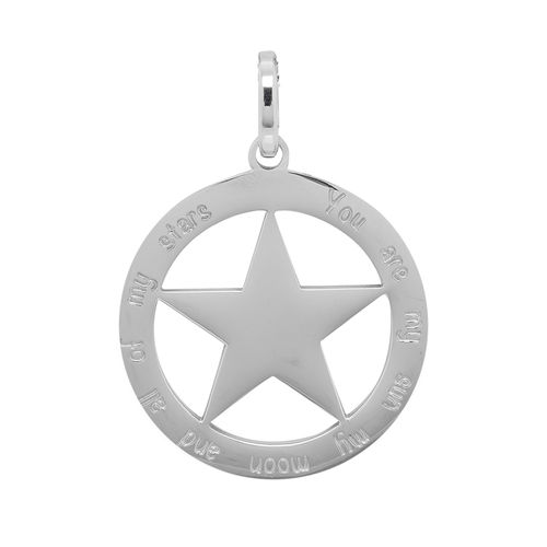 "iXXXi Hanger Ster ""You are my sun my moon and all of my stars"" Zilver"