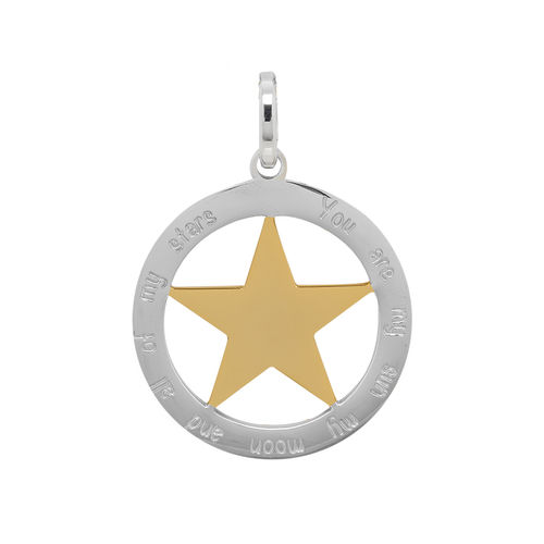 "iXXXi Hanger Ster ""You are my sun my moon and all of my stars"" Zilver/Goud"