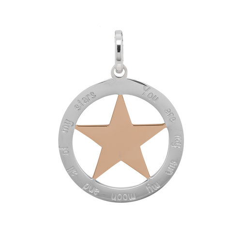 "iXXXi Hanger Ster ""You are my sun my moon and all of my stars"" Zilver/Rosé"