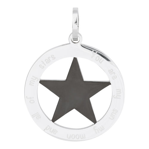 "iXXXi Hanger Ster ""You are my sun my moon and all of my stars"" Zilver/Zwart"