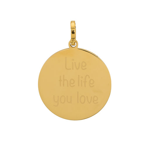 "iXXXi Hanger ""Live the life you love"" Goud"