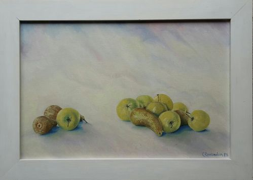 Painting - Still life apples & pears