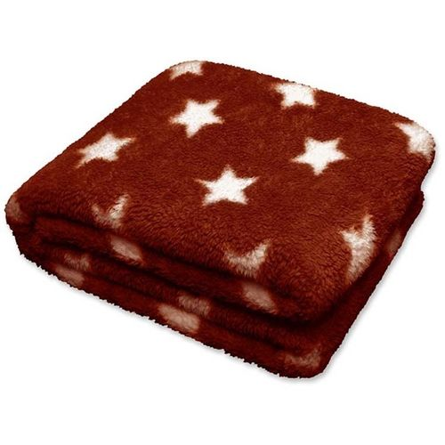 Plaid Stars clay red