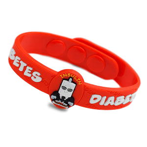 Silicone Medical Bracelet, Diabetes
