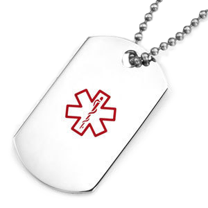 Dog-Tag with a large medical symbol