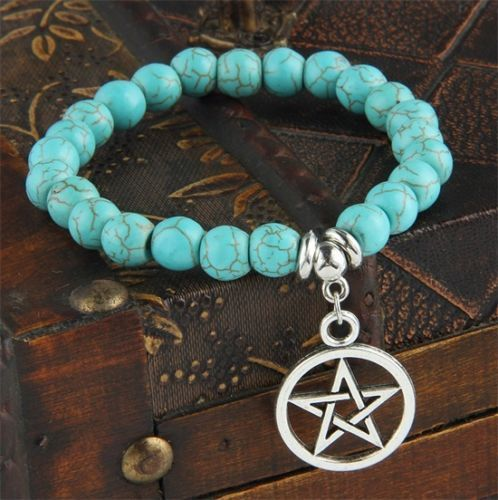 Turquoise armband met ster