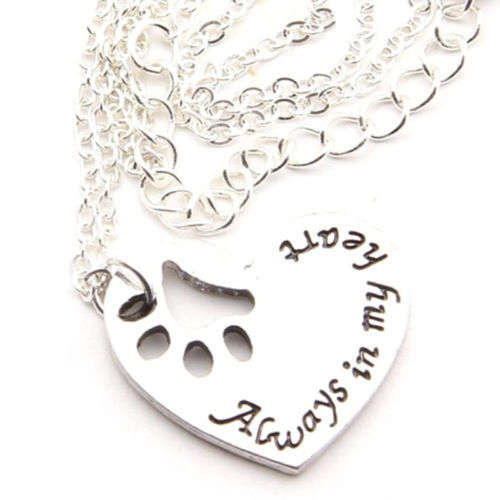 Ketting hondenpootje: Always in my heart