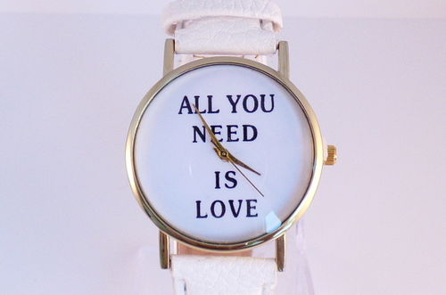 Horloge All you need is love