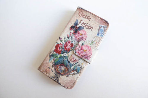 iPhone 5/5s bookcase flower