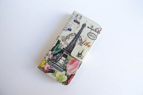 iPhone 5/5s bookcase Paris flower