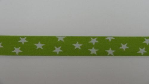 Waist elastic small lime green with star