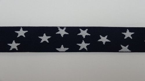 Waist elastic small dark blue with star