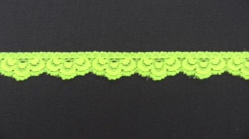 Elastic lace  13 small fluor light green
