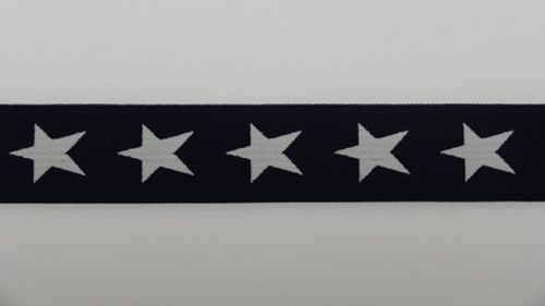 Waist elastic wide dark blue with star