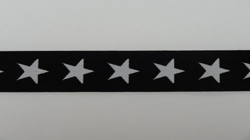 Waist elastic wide black with star