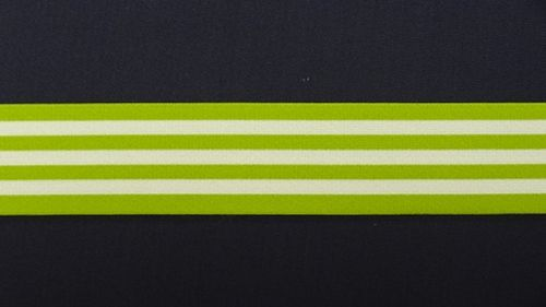 Waist elastic wide lime green with stripes
