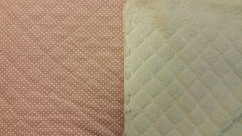 Quilted teddy pink with dot