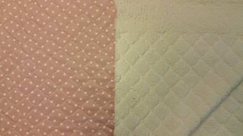 Quilted teddy pink with star