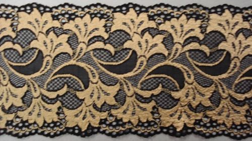 Knitted lace black