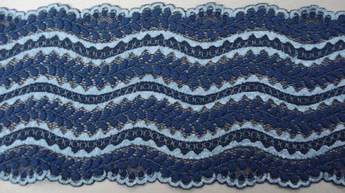 Knitted lace blue