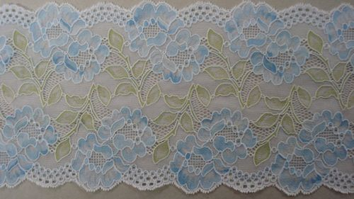 Knitted lace light blue
