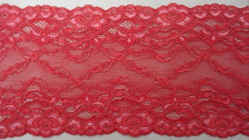 Knitted lace red