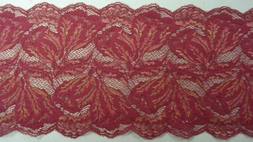 Knitted lace dark red