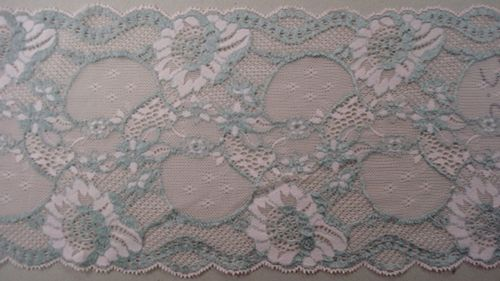 Knitted lace grey with pink