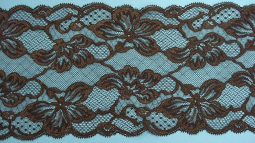 knitted lace brown