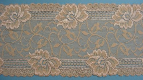knitted lace beige