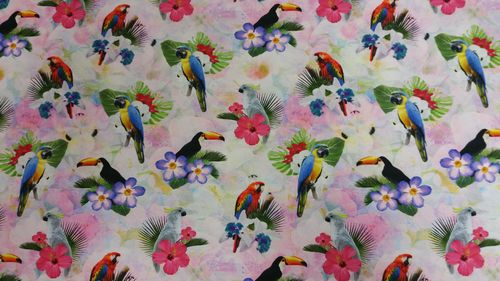 Digitale print Parrots and