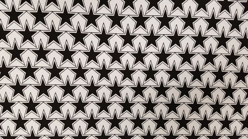 Cotton lycra Black white stars