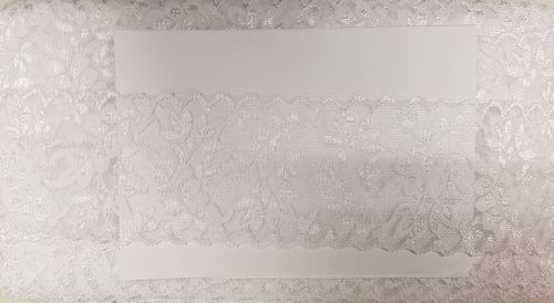 Elastic lace 28 small White