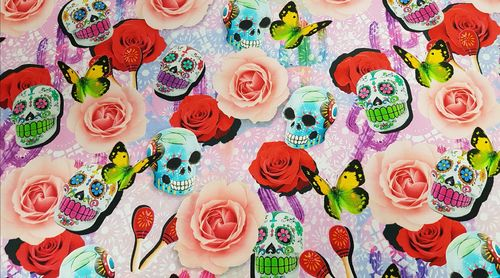 Digitale prints Skulls & Flowers 269