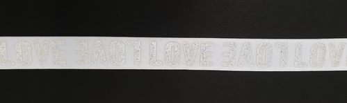 Waist elastic wide 44 White love