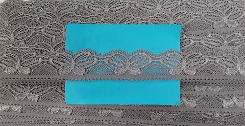 Elastic lace Small 37 Grey